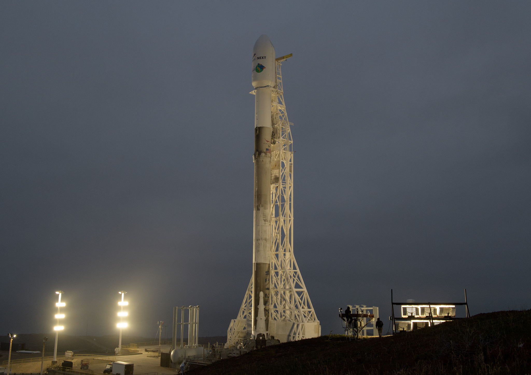 GRACE-FO sits in the fairing of the SpaceX Falcon 9 rocket.