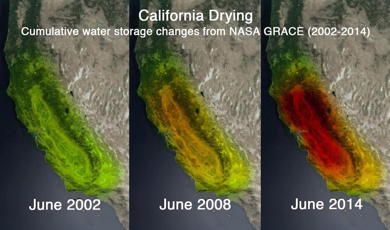 California drought as seen by GRACE.