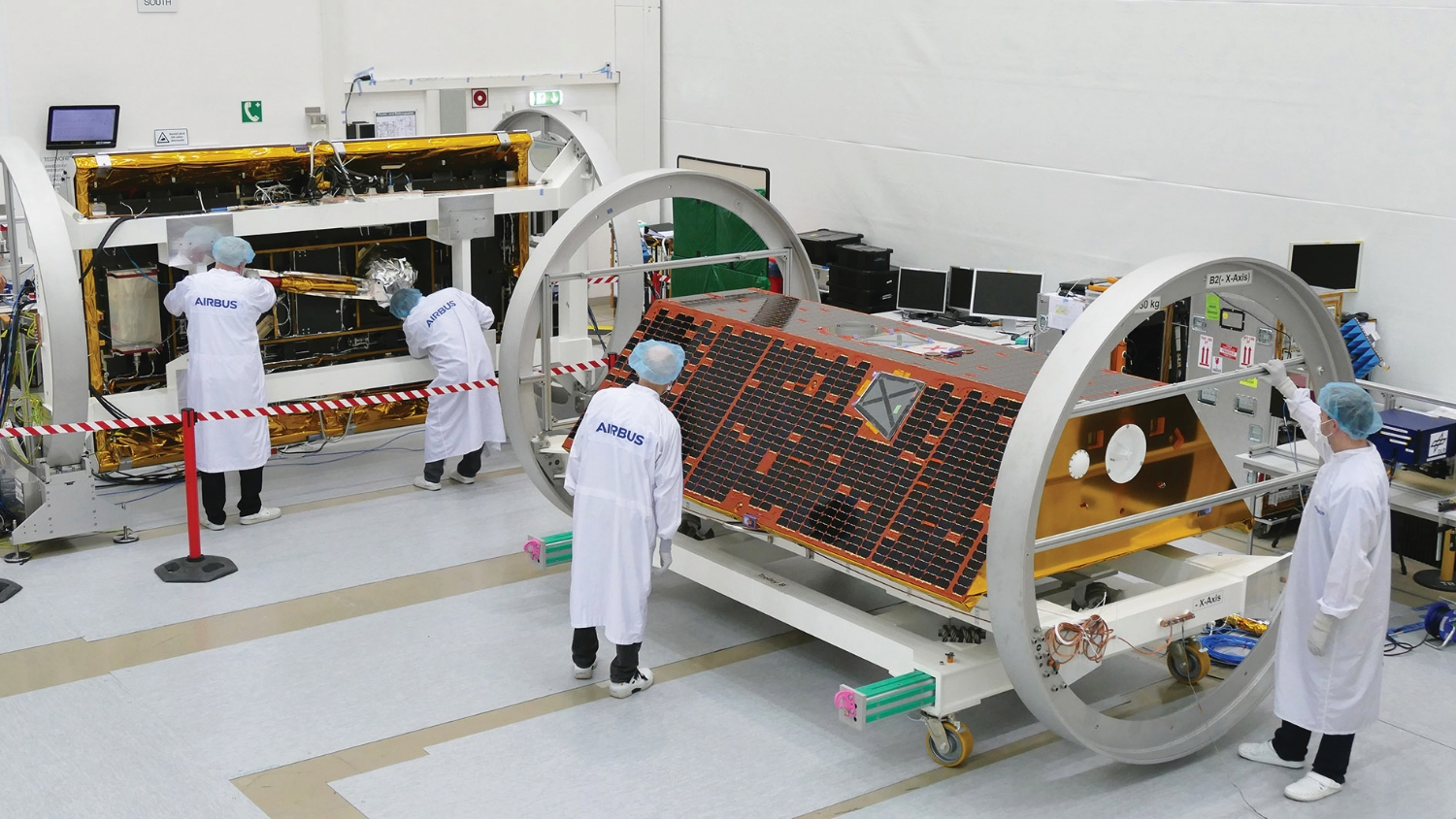 The GRACE-FO satellites were assembled by Airbus Defence and Space in Germany.