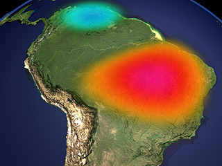 Amazon Basin Monthly GRACE Data