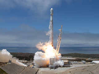 GRACE-FO Launch, Sky and Sea